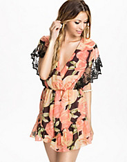 Peach Capped Sleeve Playsuit