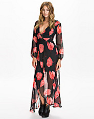 Sheer Wrap Maxi Dress