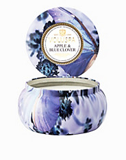 Apple Blue Clover 2-Wick Metallo Candle