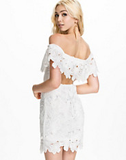 Large Floral Lace Off Shoulder Dress