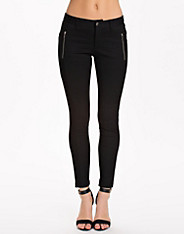 Zip Seamed Ponte Pants