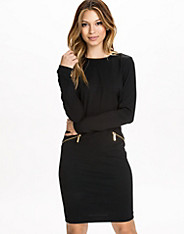 LS Solid Zip Seam Dress