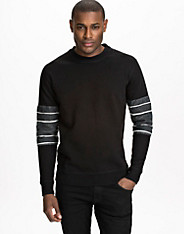 Lined Arms Sweater