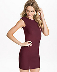 Textured Power Pad Bodycon Dress