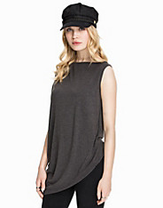 Wrap Back Overlay Asymetric T-Shirt club l essentials