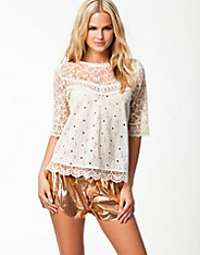 River Island Crochet Top 3/4 Sleeve