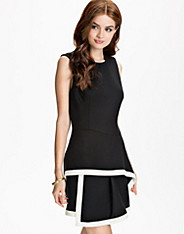 Roundneck Peplum Dress