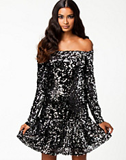 Frill Sequins Dress