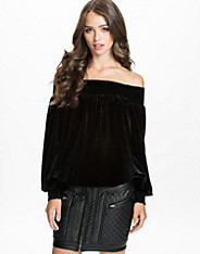 Off-Shoulder Velvet Top