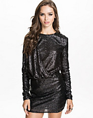 Drapy Sequins Dress