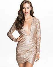 Low Front Sequins Dress