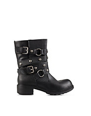 Benelli Studded Strap Biker Boot
