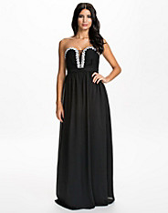 Crystal Trim Maxi Dress