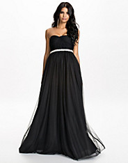 Flaired Tulle Maxi Dress