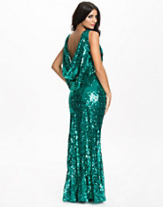 Sequin Drape Maxi Dress