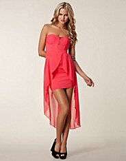 Strapless Drop Back Dress