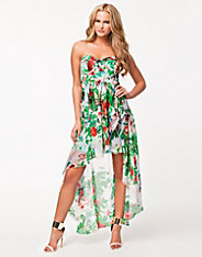 Drop Floral Back Dress