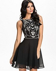 Pearl/Diamante Chiffon Babydoll Dress