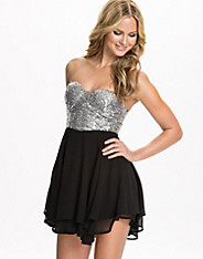 Sequin Sweetheart Skater Dress