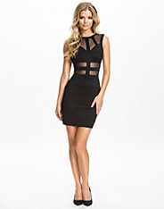 Sheer Panelled Bandage Dress