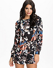 Shadow Butterfly Print Playsuit