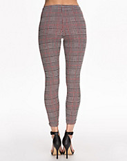 Red Flash Check Tube Trouser