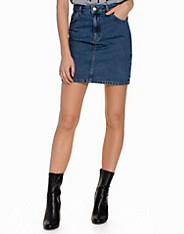 High-Waisted Mini Denim Skirt topshop