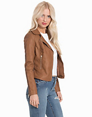 Tan Faux Leather Biker Jacket Miss Selfridge (2177084889)