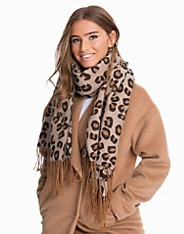 Knitted Leopard Scarf