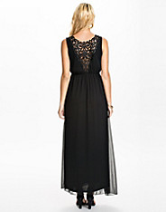 Lace Back Long Dress
