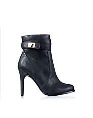 High Heel Buckle Boot
