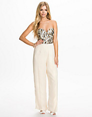 Animal Sequin Sweetheart Tailored Jumpsuit