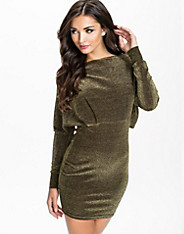Glitter Cape Back Bodycon Dress