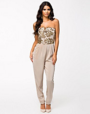 Heavily Embellished Bandeau Jumpsuit