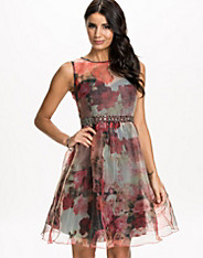 Floral Organza Fit&Flare Dress