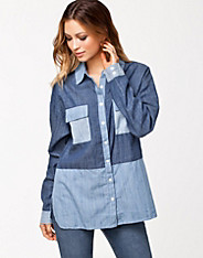 Angelina Patch Denim Shirt