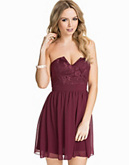 Flower Lace Bandeau Dress