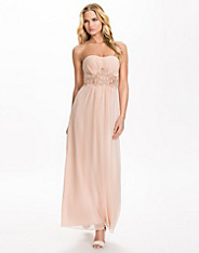Embellished Bandeau Maxi Dress