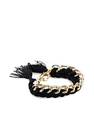 Chain & Braided Bracelet