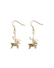 Origami deer earrings