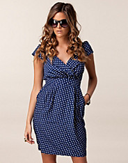 Polka Dot Wrap Front Dress