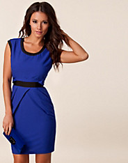 Contrast V-neck Dress