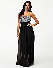 Jewel Bustier Maxi Dress