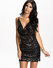 Sequin Draped Dress