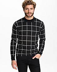 Greaser Check Half Turtle Sweater
