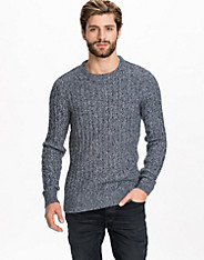 SHTrik Cable Crew Neck