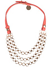 Nubuck Chain Necklace