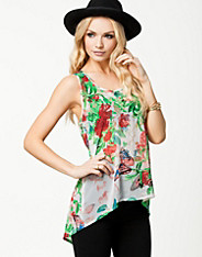 Ax Paris - Floral Print Chiffon Top