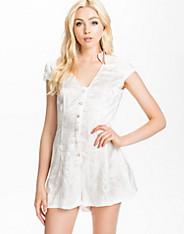 Flower Button Upfront Playsuit