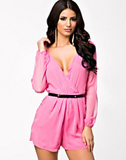 Chiffon Wrap Front Playsuit